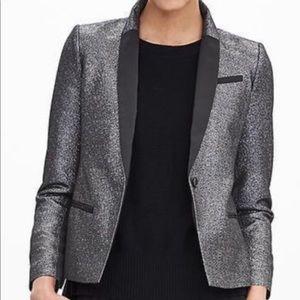Metallic silver blazer